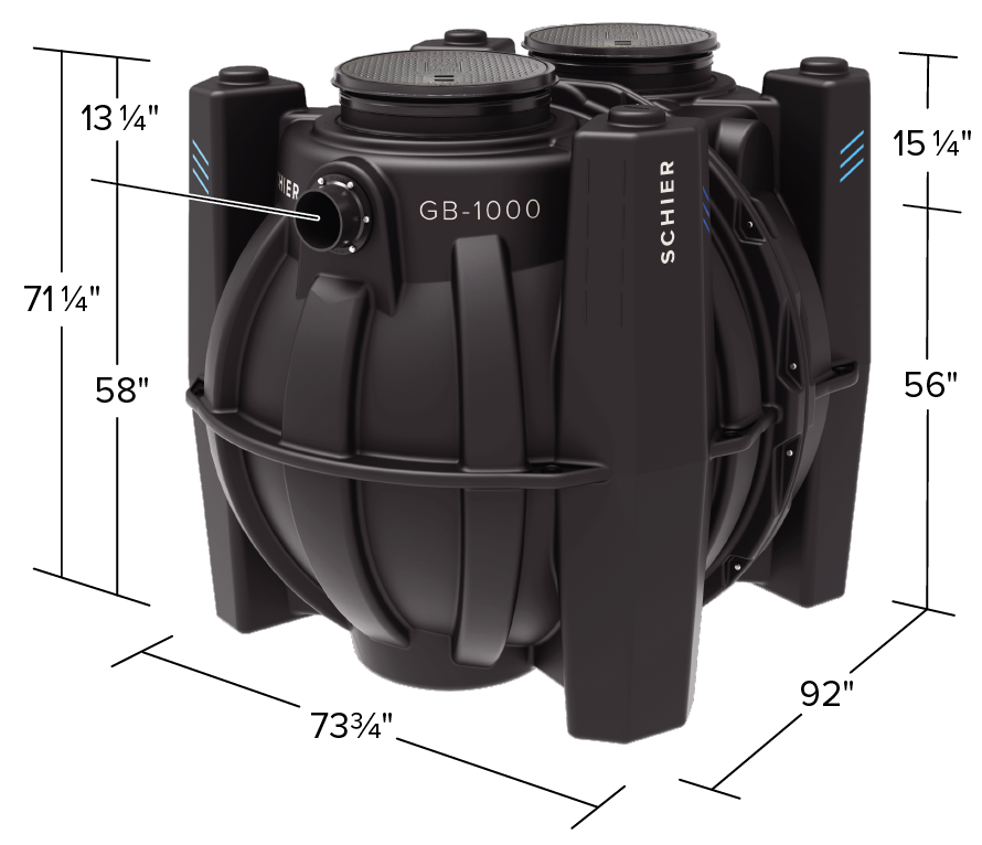 GB-1000 Product Dimension View